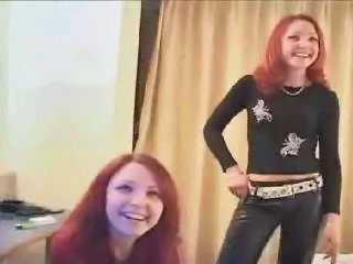 Redhead Sister Teen Threesome Twins