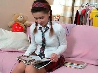 Pigtail School Student Teen Uniform