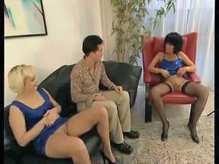 European German Mature Stockings Threesome