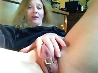 Masturbating Mature Piercing