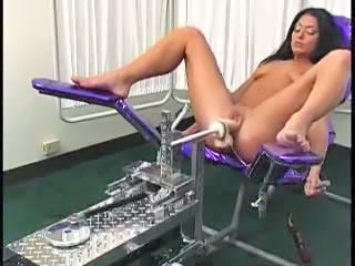 Brunette Machine Masturbating MILF