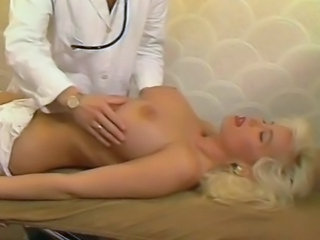 Amazing Big Tits Blonde Doctor European French MILF Pornstar Vintage