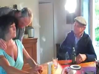 Drunk European French Kitchen Mature Threesome