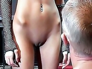 Close up Piercing Pussy Shaved