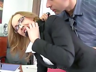 Forced Glasses Hardcore MILF Office Secretary