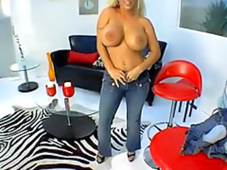 Big Tits Jeans MILF Stripper