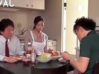 Asian Family Japanese Kitchen MILF Wife