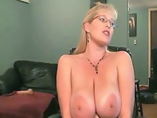 Big Tits Glasses MILF Natural Webcam