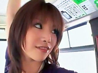 Asian Babe Bus Cute Japanese Public