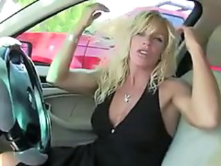 Blonde Car MILF