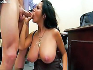 Big Tits Blowjob MILF Natural Office SaggyTits Secretary