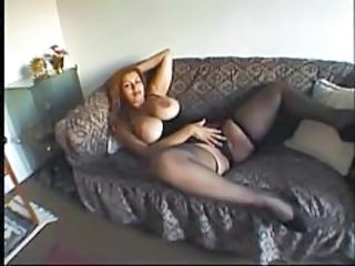 Big Tits Chubby Masturbating MILF Stockings