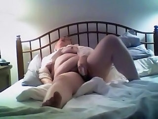 Amateur BBW Homemade Masturbating Wife