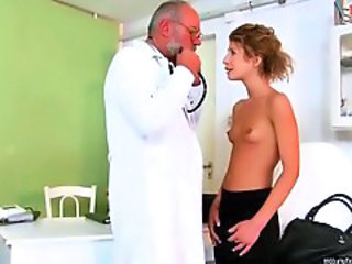Daddy Doctor Old and Young Small Tits Teen