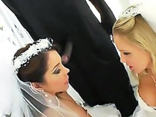 Amazing Big cock Bride Interracial MILF Pornstar Threesome