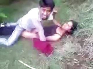 Desi Couple Enmeshed Bonking In Park & Paid The Branch of knowledge