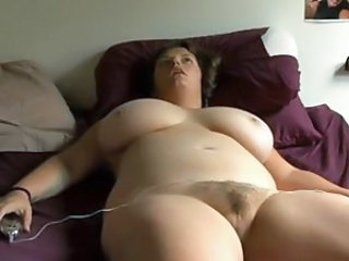 Amateur BBW Big Tits Hairy Homemade Masturbating MILF
