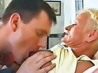 Granny Kissing Mature Nipples