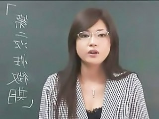 Asian Cute Glasses Japanese MILF School Teacher
