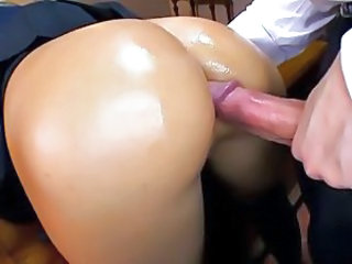 Anal Ass Big cock Doggystyle Oiled Teen