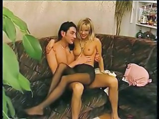 Blonde European German MILF Pantyhose