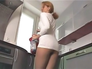 Amateur Ass Kitchen MILF Pantyhose Wife