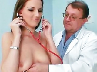 Daddy Doctor Old and Young Smoking Teen