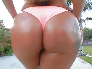 Ass Ebony Outdoor Panty