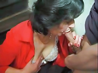 Blowjob French Lingerie Mature