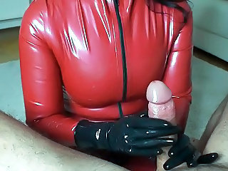 Amateur Handjob Latex Pov
