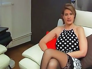 European French MILF Stockings