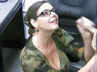 Big Tits Car Glasses Handjob MILF