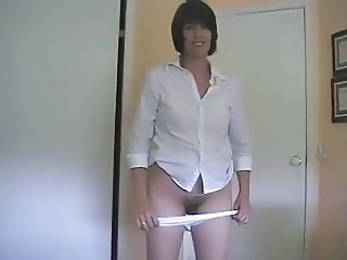 Amateur Homemade MILF Panty Stripper