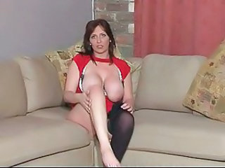 Big Tits British European MILF Natural Solo