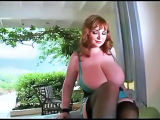 Big Tits MILF Natural Redhead Stockings