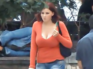 Big Tits Natural Public Voyeur