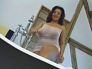 Bathroom British European MILF Natural