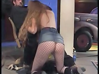 Blowjob Fishnet Long hair Teen