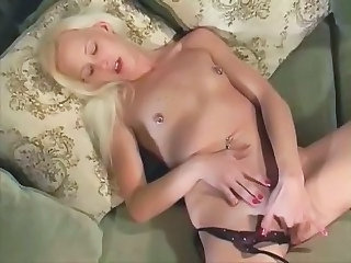 Blonde Masturbating Nipples Piercing Small Tits Solo Teen