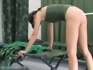Army European Spanking Teen