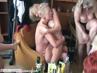 Drunk European Groupsex Party