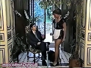 Ebony Fetish Interracial Maid