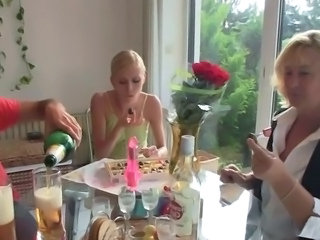 Daughter Drunk Family Mature Mom Old and Young Teen
