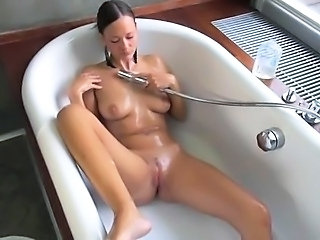 Babe Bathroom Cute Gaping Masturbating Pussy Solo Teen