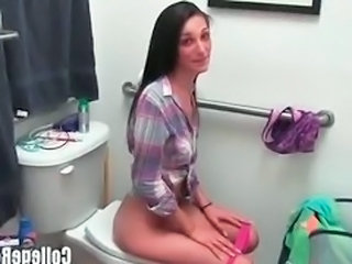 Amateur Student Teen Toilet