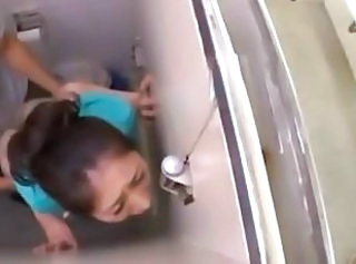 Asian MILF Public Toilet