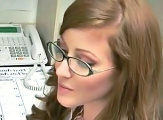 Glasses Office Redhead Secretary Teen