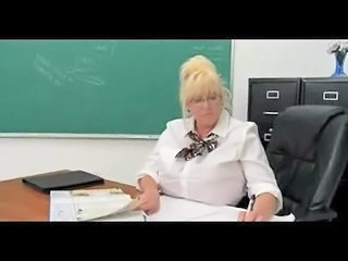 BBW Big Tits Blonde Glasses Mature School Teacher