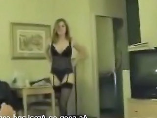Amateur Homemade Lingerie Stockings Wife