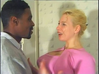 Blonde French Interracial Teen